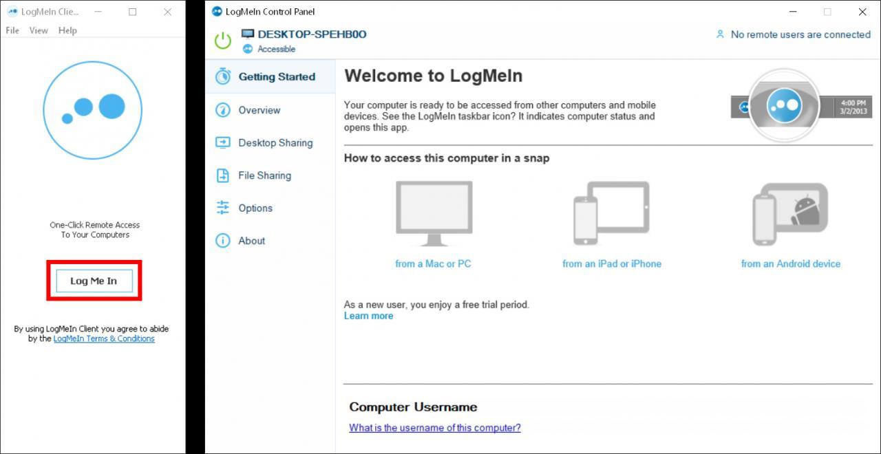 Cómo usar LogMeIn para acceder a otro ordenador de forma remota