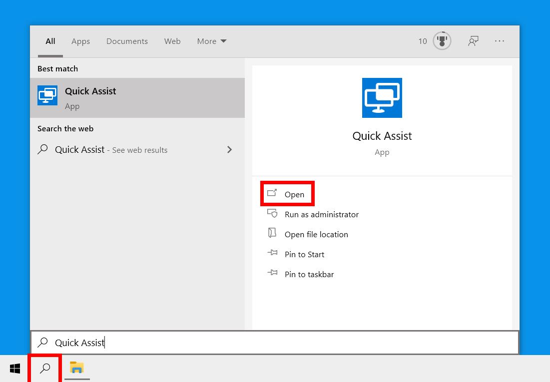 Cómo usar la Asistencia rápida para arreglar un ordenador con Windows 10 de forma remota