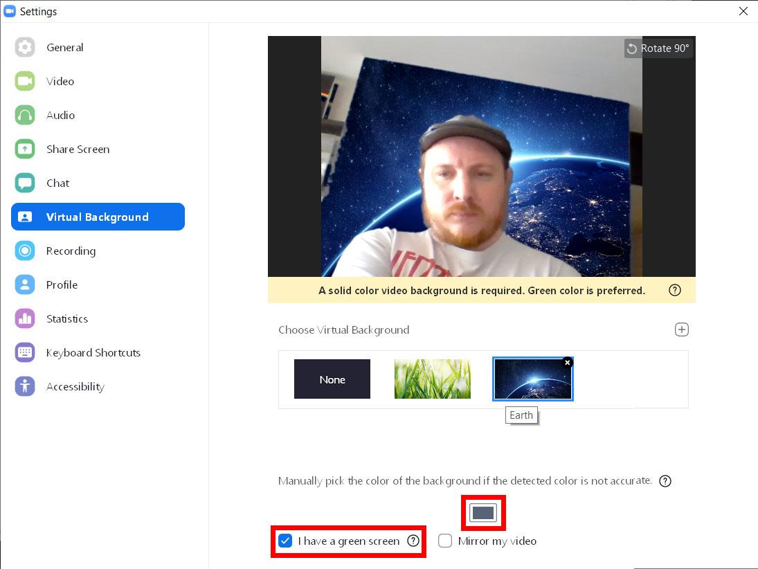Cómo añadir un fondo virtual en el zoom