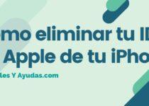 Cómo eliminar tu ID de Apple de tu iPhone