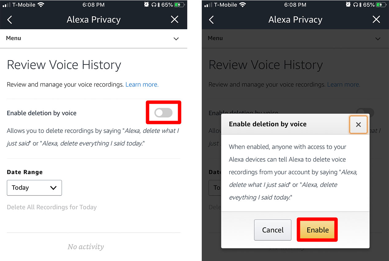 Cómo borrar el historial y las grabaciones de Alexa