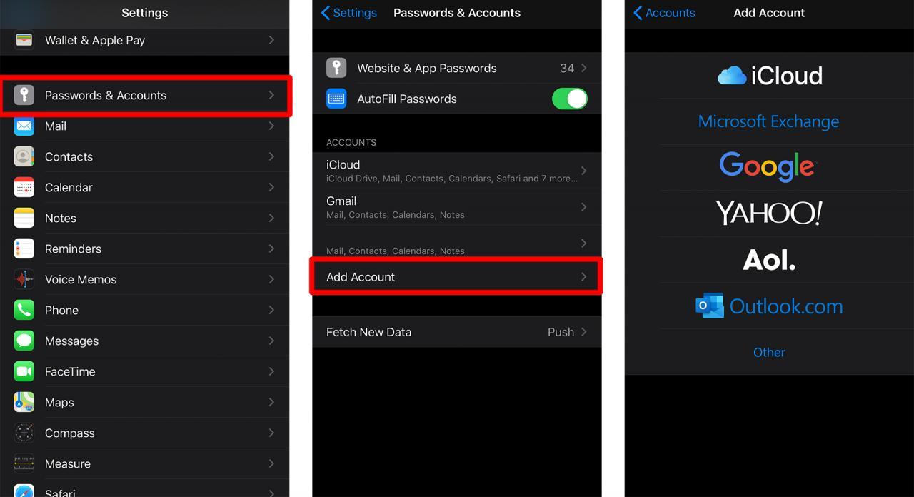 Cómo añadir una cuenta de correo electrónico a tu iPhone