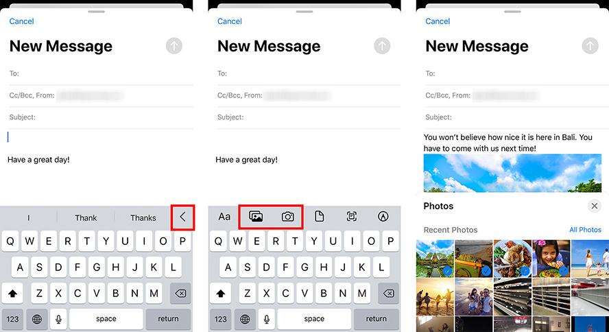 Cómo añadir un archivo adjunto a un correo electrónico en tu iPhone