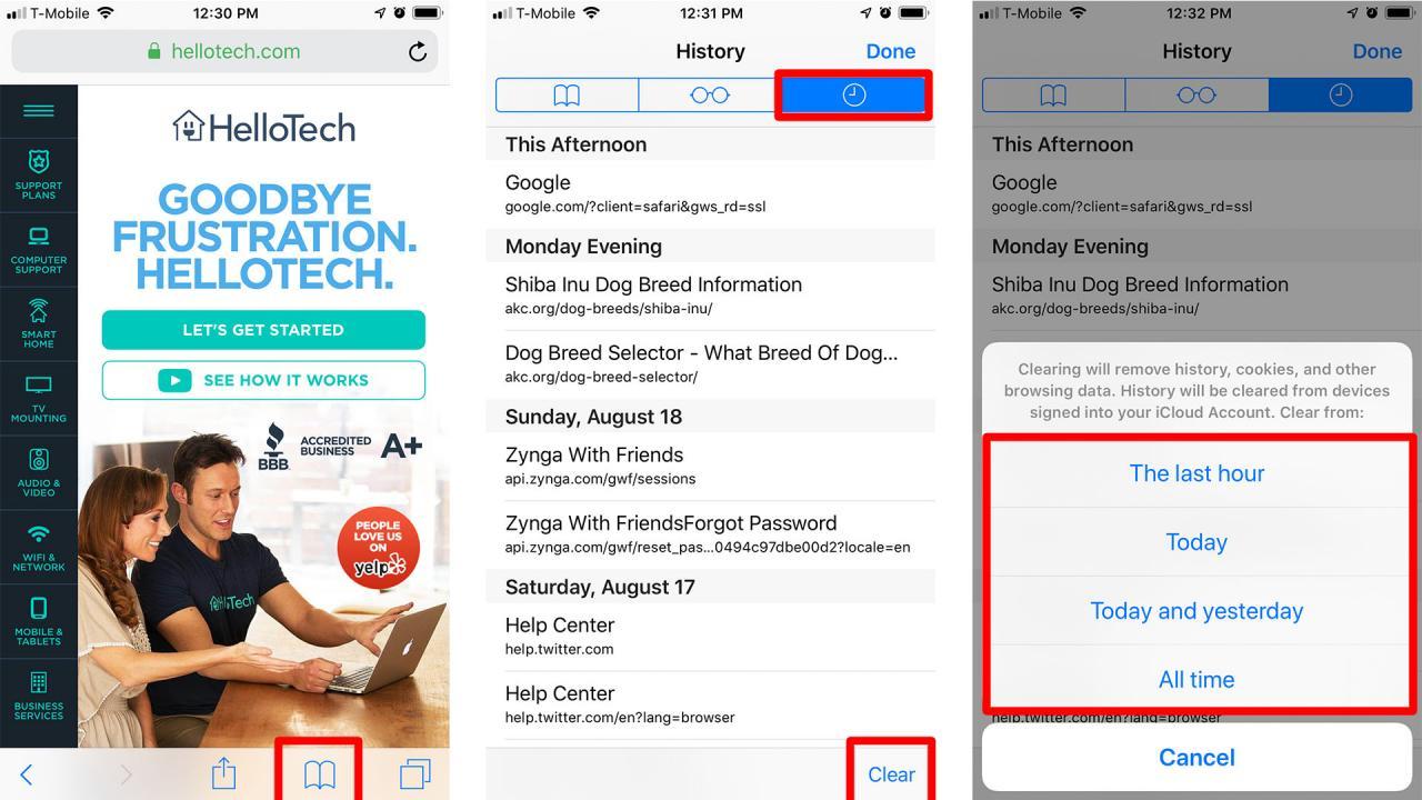 Cómo borrar el historial de tu iPhone