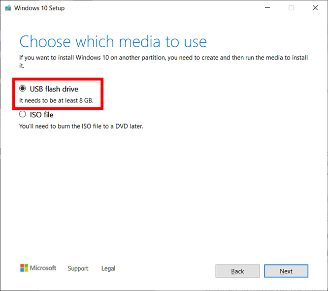 Cómo crear un USB de arranque de Windows 10