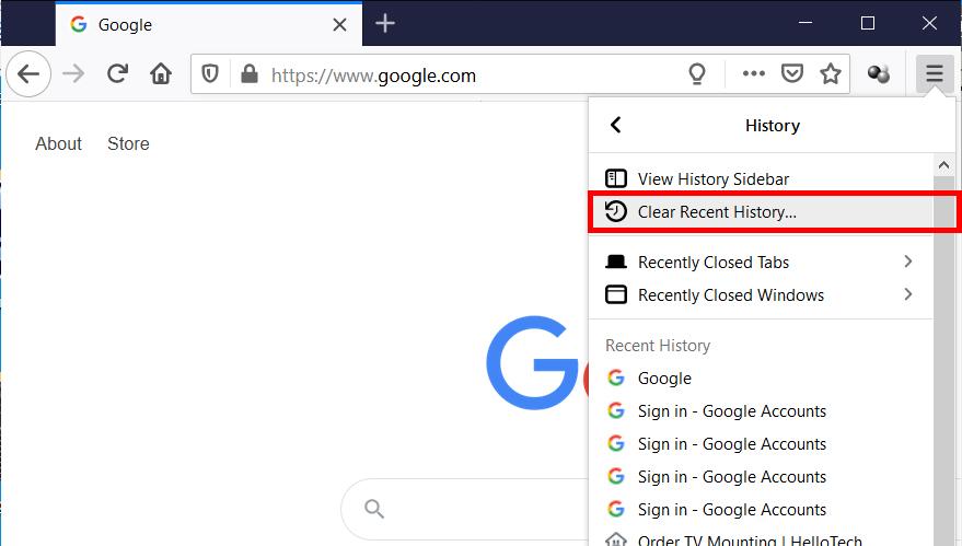 Cómo limpiar la historia en Chrome, Safari, Firefox y Edge