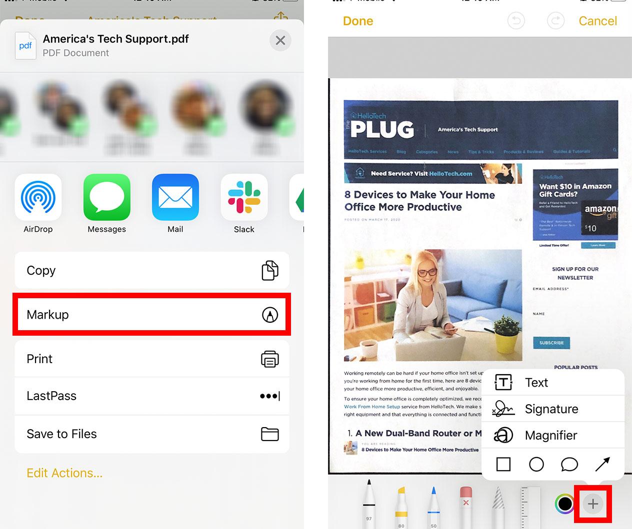 Cómo escanear un documento en su iPhone o iPad