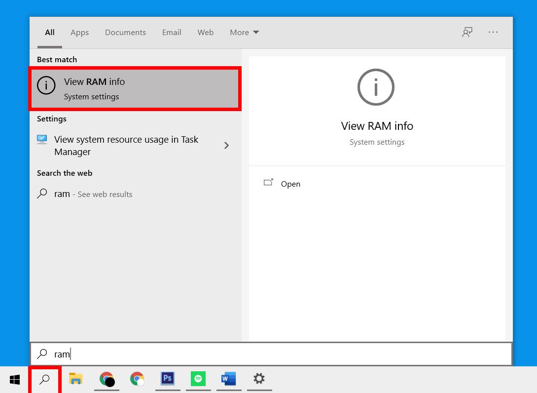 Cómo comprobar las especificaciones de la computadora en Windows 10